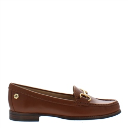 Aubree Tan Leather Loafers