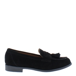 Carl Scarpa Dillon Black Suede Loafers