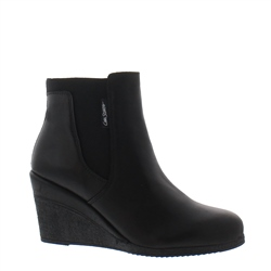 Marietta black leather ankle boots