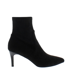 Carl Scarpa Tunella Black Faux Suede Sock Ankle Boot