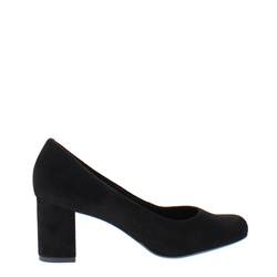 Carl Scarpa Yvette Black Suede Court Shoes