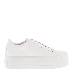 Carl Scarpa Polina White Leather Trainers