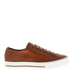 Coraline Brandy Leather Trainers