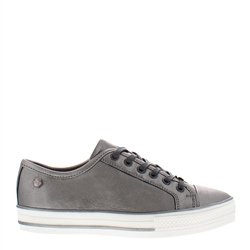 Carl Scarpa Coraline Chrome Leather Trainers