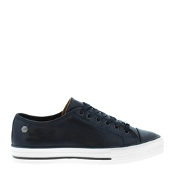 Coraline Navy Leather Trainers