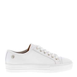 Carl Scarpa Coraline White Leather Trainers