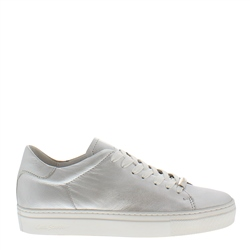 Carl Scarpa Marina Silver Leather Trainers