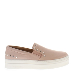 Carl Scarpa Petra Rose Leather Trainers