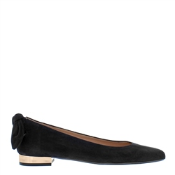 Carl Scarpa Amy Black Suede Flat Shoes