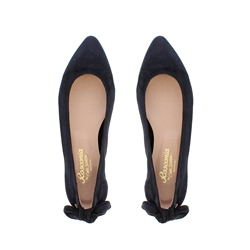 Amy Navy Suede Flat Shoes