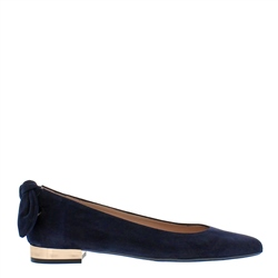 Carl Scarpa Amy Navy Suede Flat Shoes