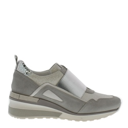 Carl Scarpa Amber Silver Leather Trainers