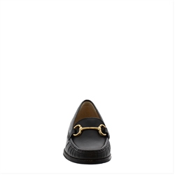 Aubree Black Leather Loafers