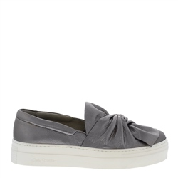 Carl Scarpa Maggie Chrome Leather Flatform Trainers
