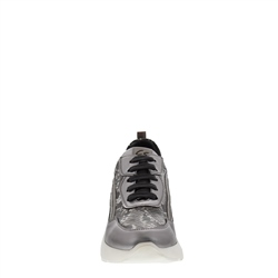 Adrianna Chrome Leather Trainers
