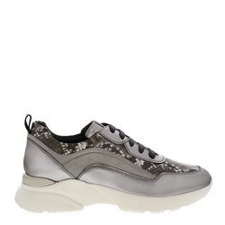 Carl Scarpa Adrianna Chrome Leather Trainers
