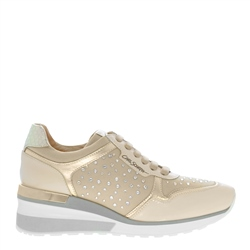 Carl Scarpa Alexandra Beige Wedge Trainers