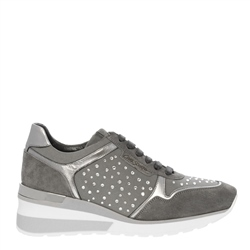 Carl Scarpa Alexandra Chrome Wedge Trainers
