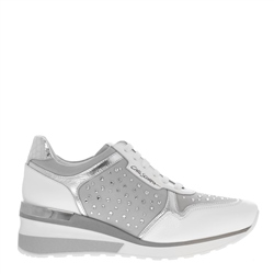 Carl Scarpa Alexandra White Wedge Trainers