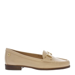 Carl Scarpa Aubree Beige Leather Loafers