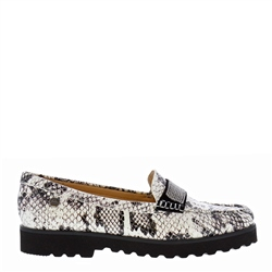 Carl Scarpa Bailee Snake Print Leather Loafers