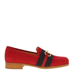 Carl Scarpa Charlotte Red Suede Loafers