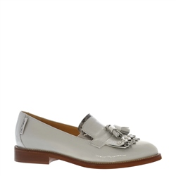 Layla Grey Patent Leather Loafers