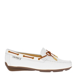 Carl Scarpa Misha White Leather Loafer