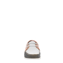 Rianna Navy and Pink Nubuck Boat Shoes