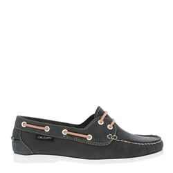 Carl Scarpa Rianna Navy Nubuck Boat Shoes