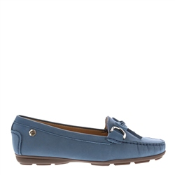 Carl Scarpa Harper Blue Suede Loafers