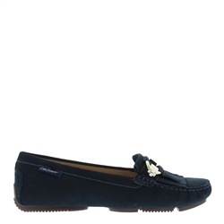 Carl Scarpa Ramona Navy Suede Loafers