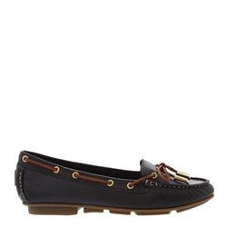 Carl Scarpa Rochelle Navy Leather Loafers