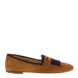 Carl Scarpa Diane Tan and Navy Loafers