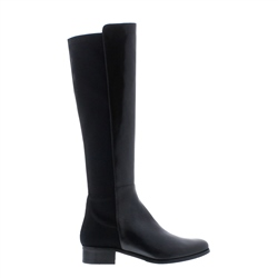 Carl Scarpa Nicolette Black Leather Knee-High Boots