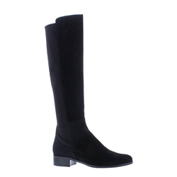 Nicolette Black Suede Knee-High Boots
