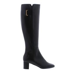 Carl Scarpa Padma Black Leather Knee-High Boots