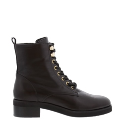 Carl Scarpa Penrose Black Leather Lace-Up Ankle Boots