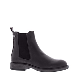 Quinn Black Leather Chelsea Boots