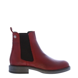 Carl Scarpa Quinn Burgundy Leather Chelsea Boots
