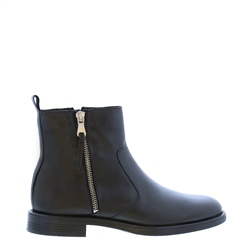 Carl Scarpa Riah Black Leather Zip-Up Ankle Boots