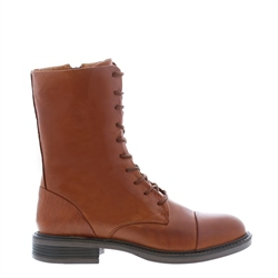 Carl Scarpa Rozlynn Tan Leather Lace-Up ankle Boots