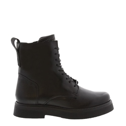 Carl Scarpa Aymara Black Leather Lace Up Ankle Boots
