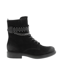 Carl Scarpa Azora Black Suede Ankle Boots