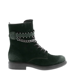 Carl Scarpa Azora Green Suede Ankle Boots