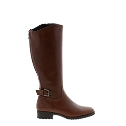 Carl Scarpa Vendetta Brown Leather Knee High Boots