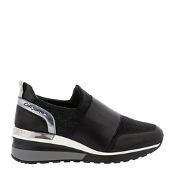 Carl Scarpa Neralina Black Wedge Trainers