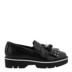 Carl Scarpa Neroli Black Patent Leather Loafers