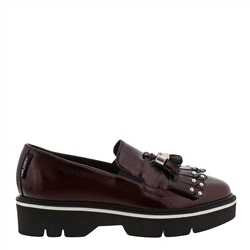 Neroli Burgundy Patent Leather Loafers