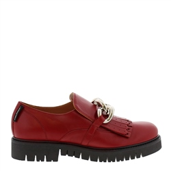 Carl Scarpa Nicole Red Patent Leather Loafers